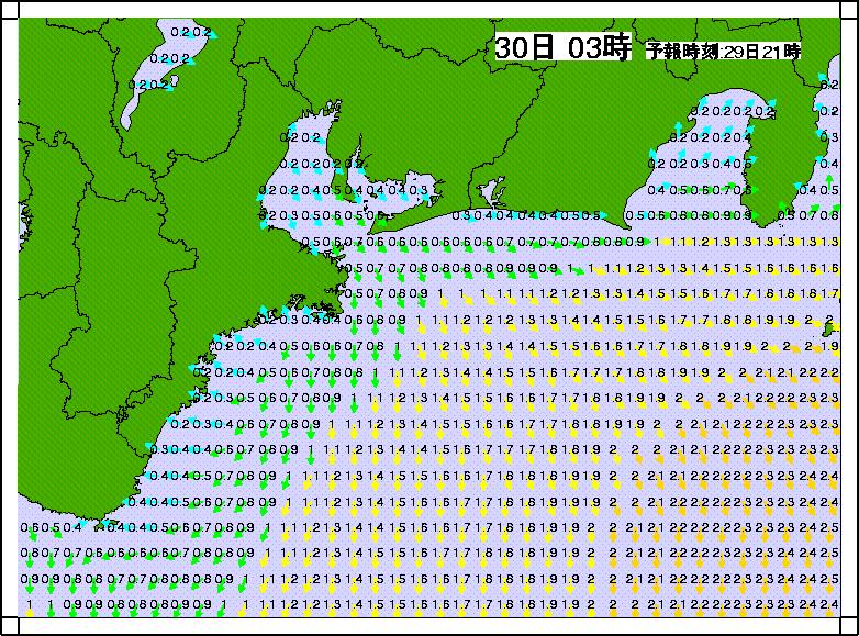 沿岸波浪モデル合成有義波高2