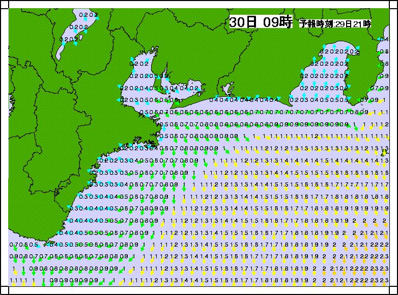 沿岸波浪モデル合成有義波高3